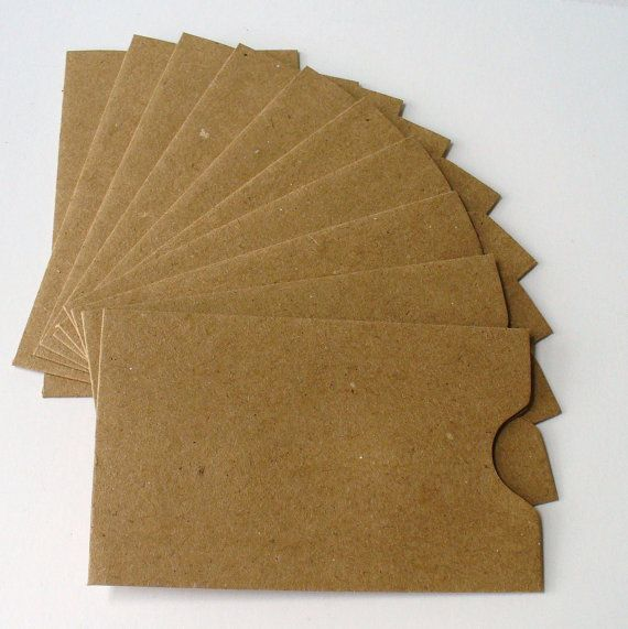 10 kraft paper gift card sleeves envelopes for photos business cards thank yous - Business Card Sleeves