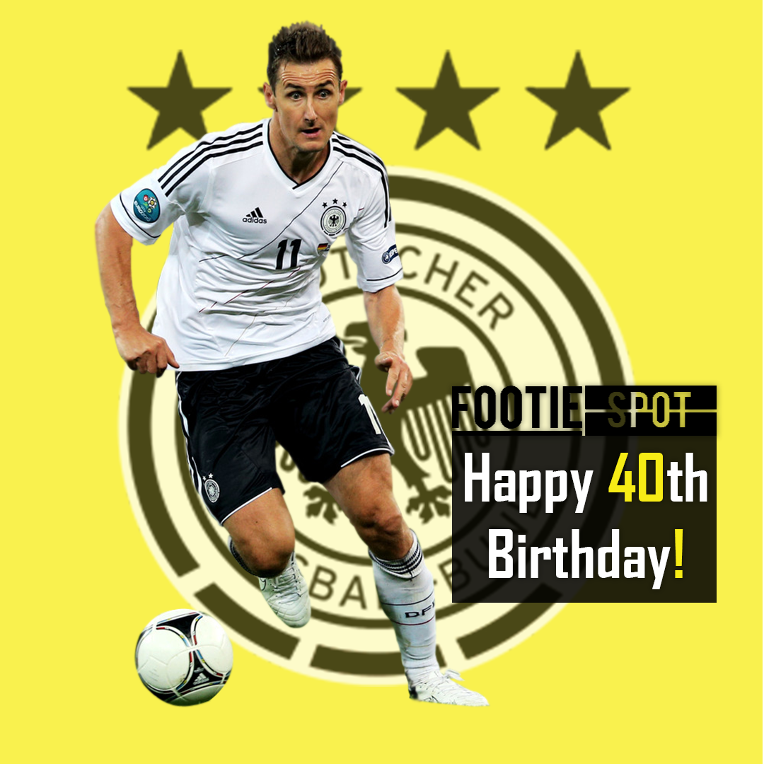 Happy Birthday Goalscoring Miroslav Klose All Time Record World Cup Goalscorer Germany S Record Goalsc With Images Happy 40th Birthday Boy Birthday Football Games