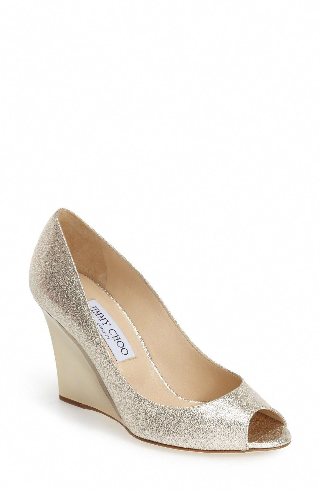 cef7dea020a Jimmy Choo  Baxen  Wedge Peep Toe Pump (Women)  JimmyChoo Peep Toe