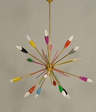 Colorful Mid Century Chandelier Lampen En Licht Kleur