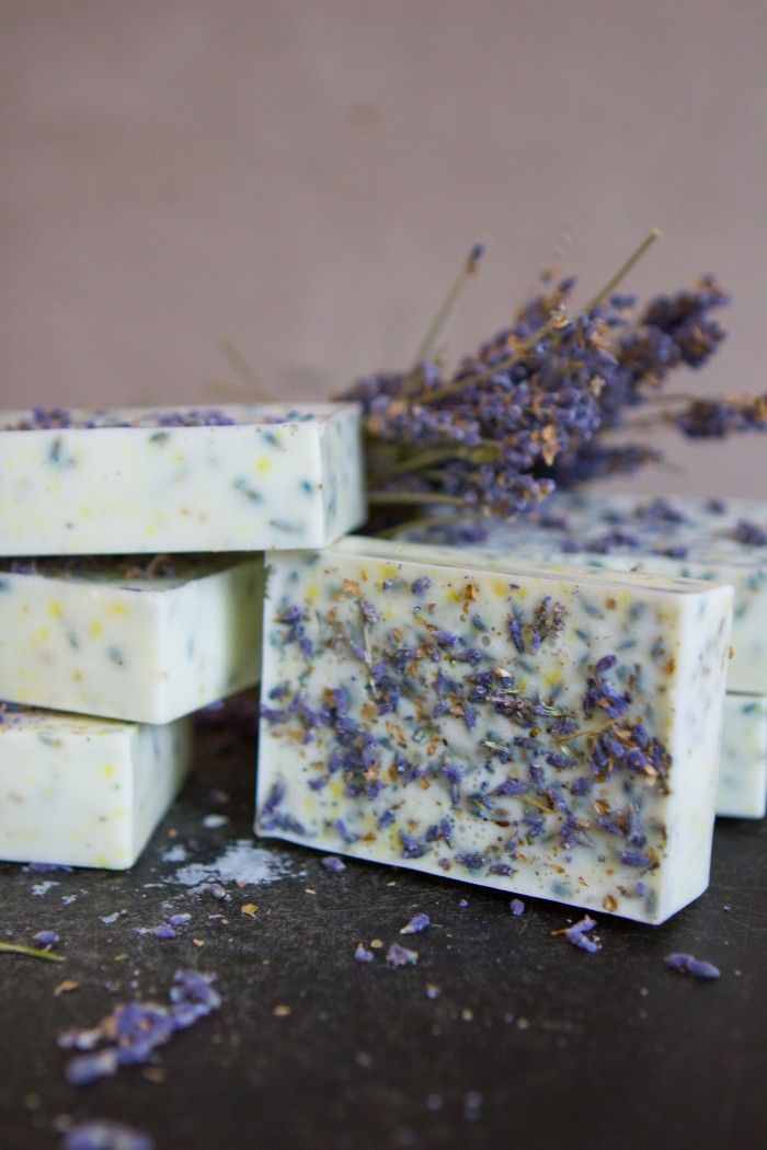 Learn how to make goat milk lavender honey lemon soap with just a few simple ingredients. Makes a great gift.