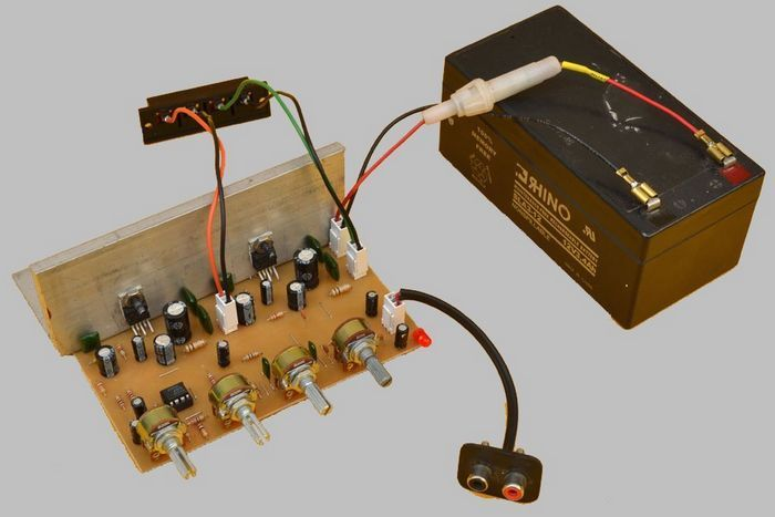 Stereo Tone Controlled 12V Amplifier Circuit with TDA2003 ...