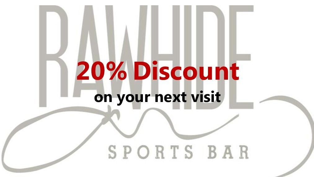 Coupon for Rawhide Sports Bar