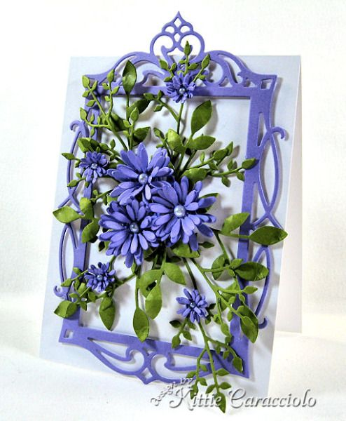 Inspired Purple Daisies by kittie747 - Cards and Paper Crafts at Splitcoaststampers