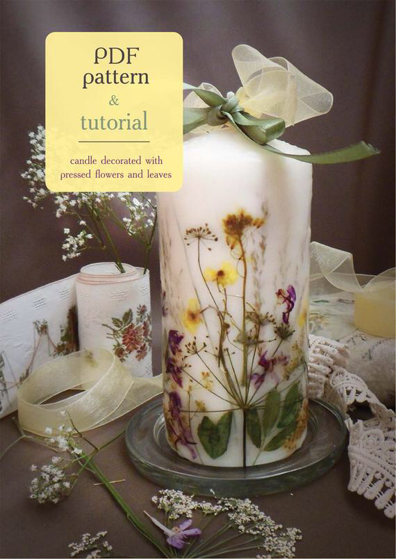 Pdf Candle Tutorial How To Make Floristic Candle Diy Decorated