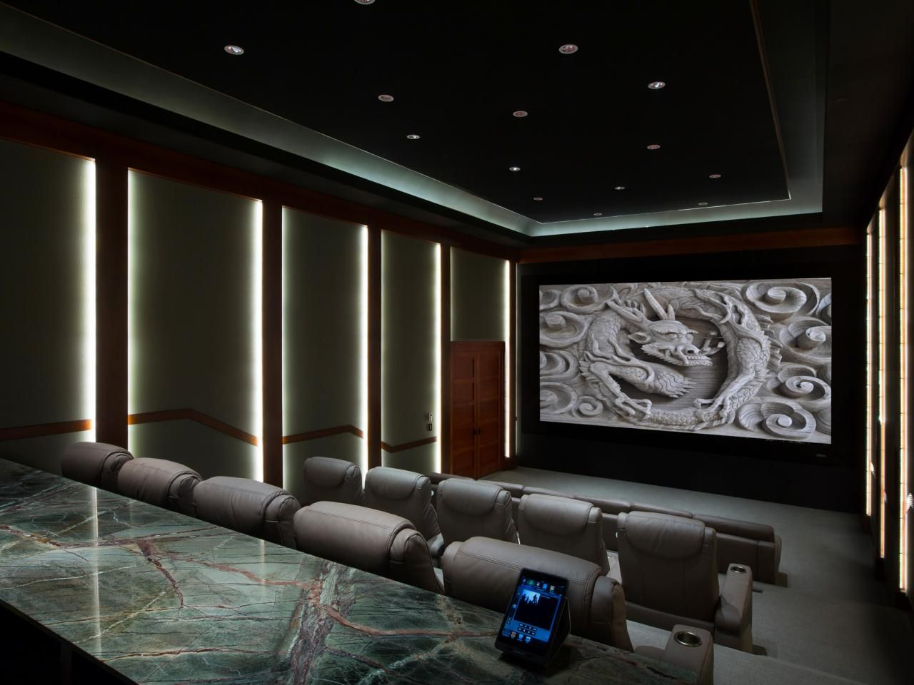 home theater designs from cedia 2014 finalists theatre. Black Bedroom Furniture Sets. Home Design Ideas