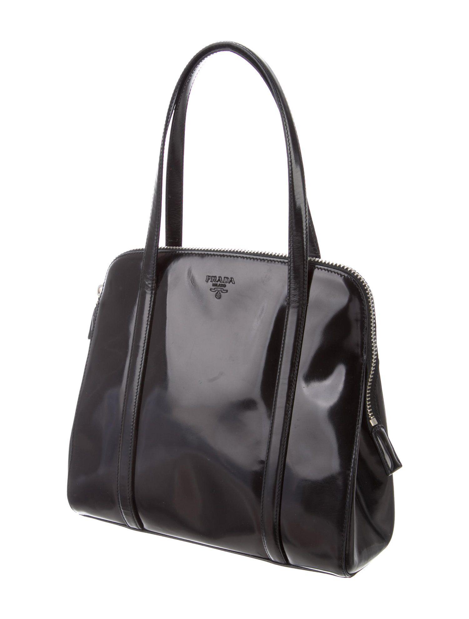 1de6312accc0 Prada Vintage Spazzolato Handle Bag - Handbags - PRA237849   The RealReal