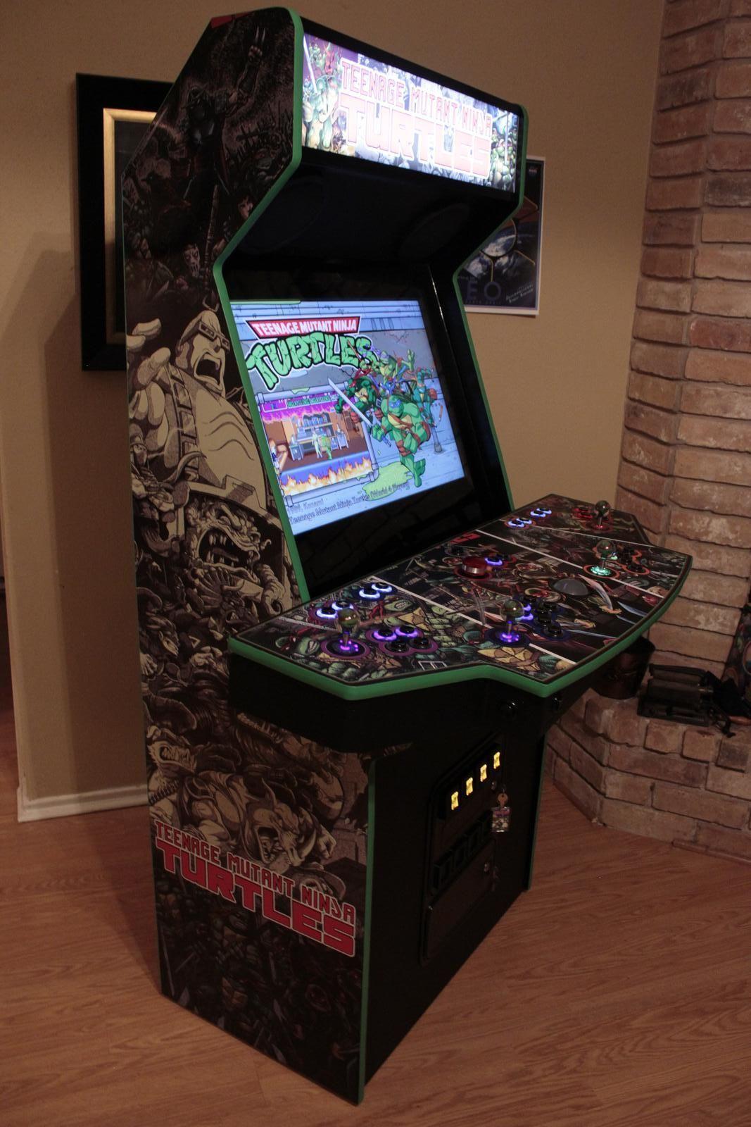 Custom TMNT Arcade Arcade, Diy arcade Mini arcade