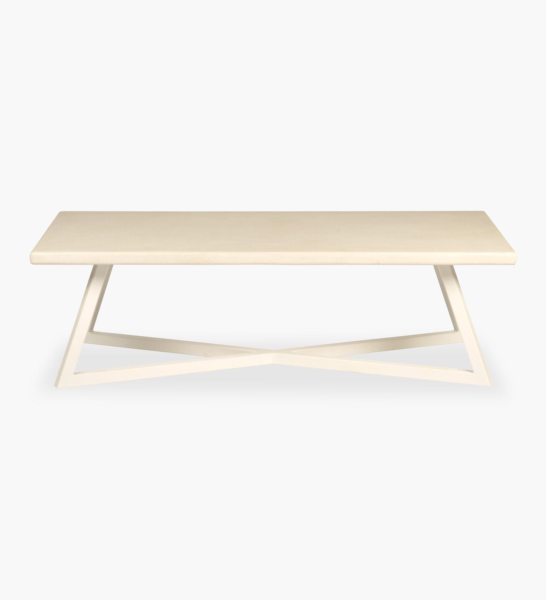 Pyramid Coffee Table Concrete Rectangular L