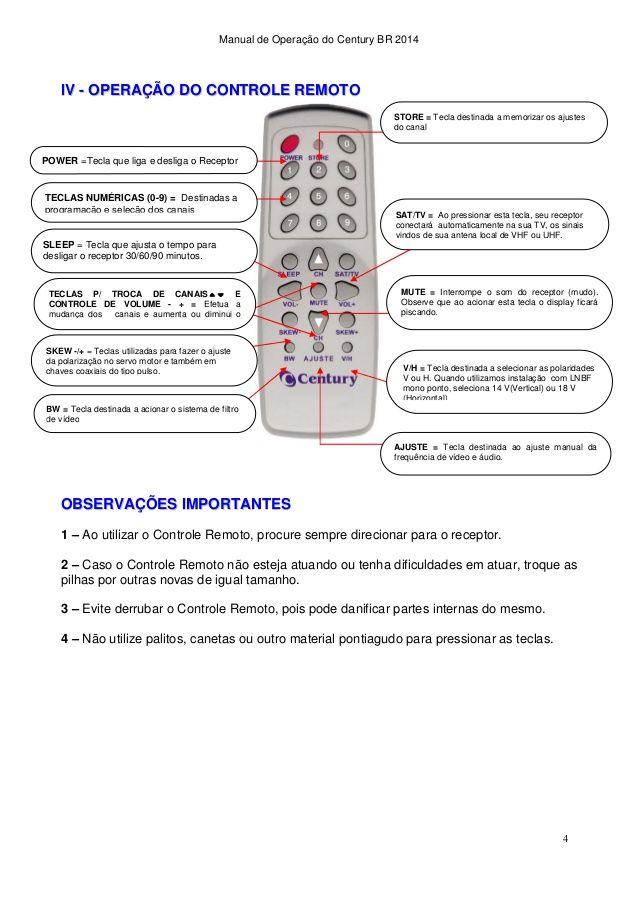Manual de Operação do Century BR 2014 4 IIVV
