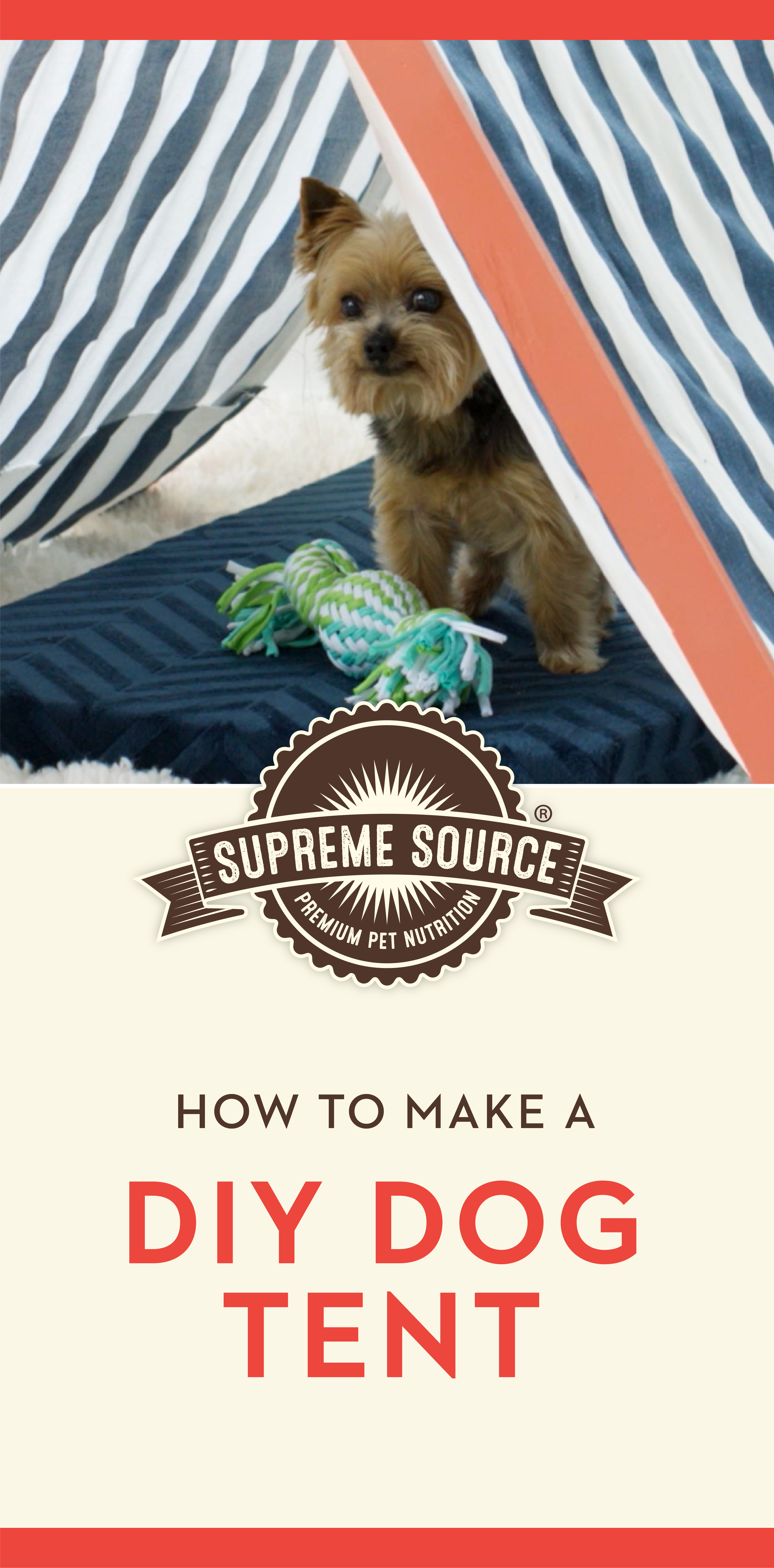 Perfectly Portable Pup Tent for Easy Summer Shade | Get Crafty | Dog