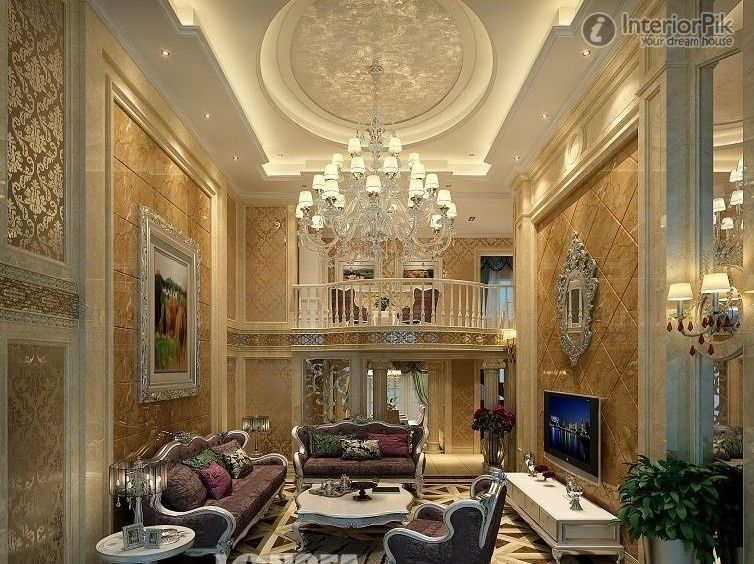 luxury modern living room with stunning ceiling design ideas in