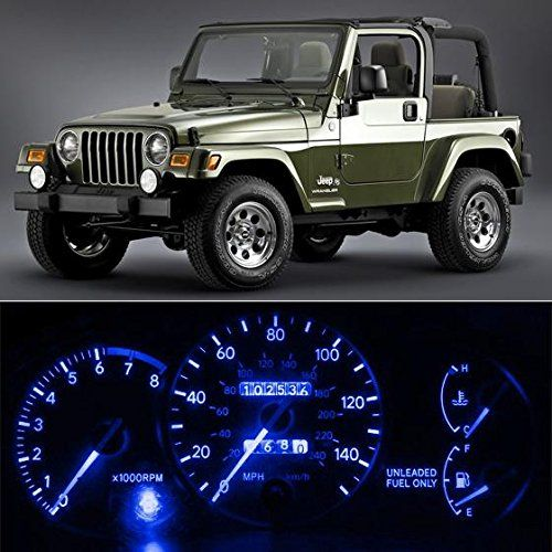 Partsam 6 Light Smd Blue Led Speedometer Indicator Package For 97 06 Jeep Wrangler Jeep Wrangler Tj 2006 Jeep Wrangler Jeep Wrangler