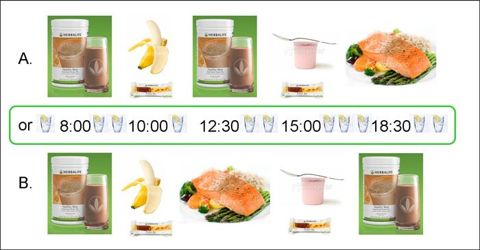 Herbalife shake diet plan / Raw meal replacement shakes