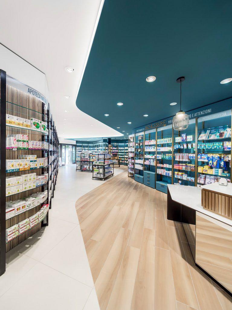 Farmacia centrale retail design farmacia design di