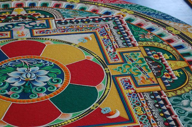 Itsy Bitty Things - Tibetan Monk Visit #monk #tibet #mandala #sand #art #india