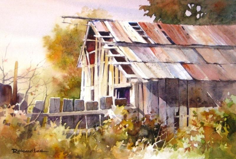 Pine Valley Barn Watercolor Barns Watercolor Architecture