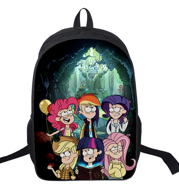 16inch Cool Kids Cartoon School Bags For Girls Boys Yu-gi-oh Print Backpack Female Bags For Children Bookbags Luggage & Bags Kids & Baby's Bags