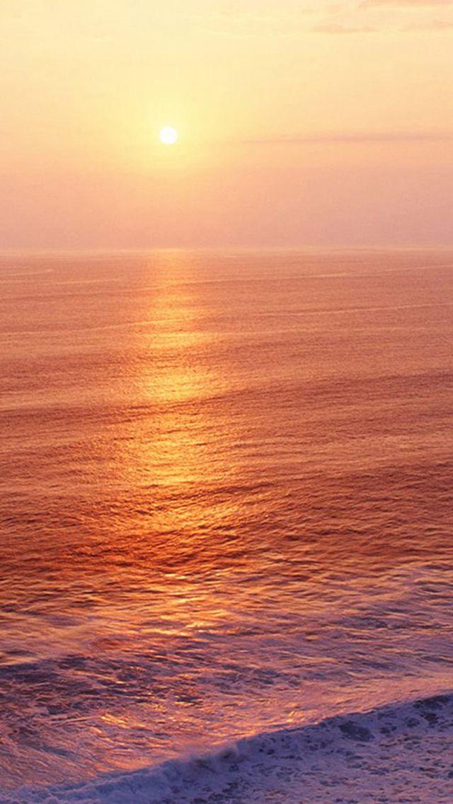 Nature Sunrise Ocean Ripple Surface iPhone 5s wallpaper