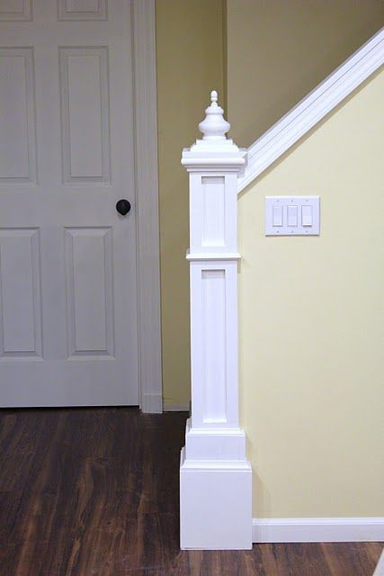 How To Build A Staircase End Cap Diy Stairs Newel Posts Stair Makeover