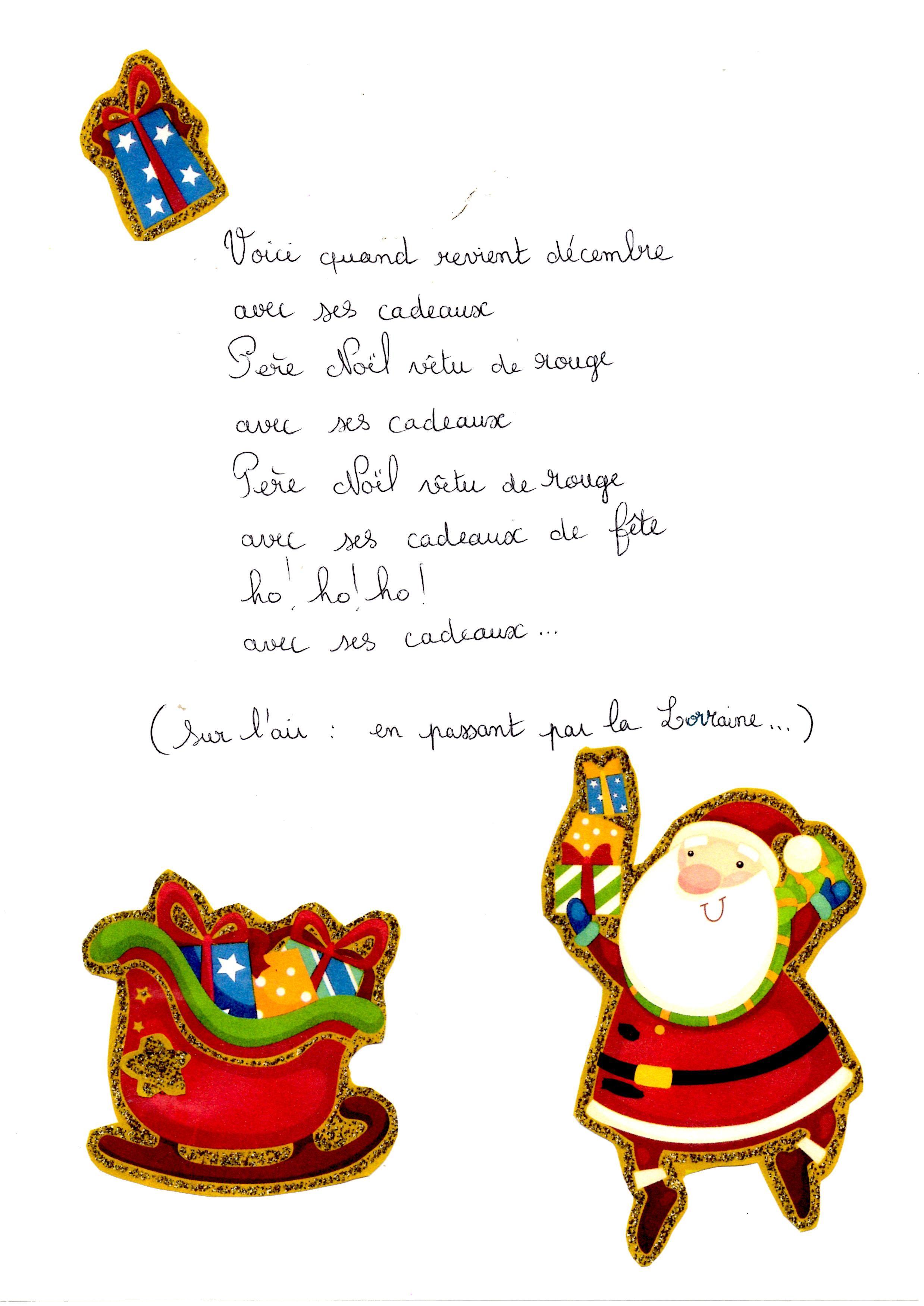 Pour Attendre Le Père Noël Comptines De Noel Noel Et