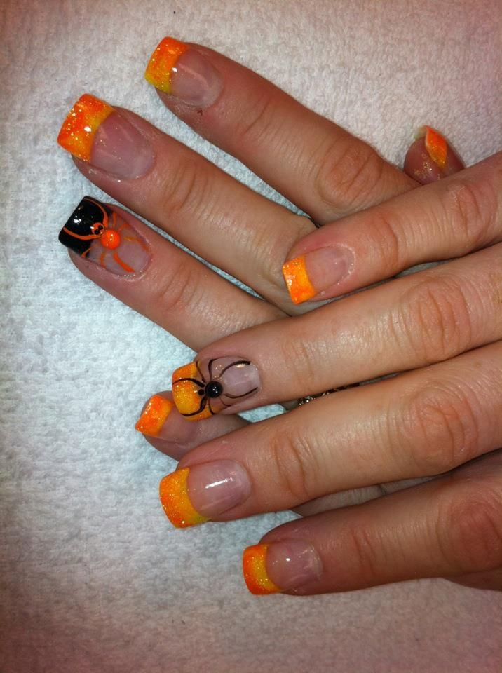 My nails - Halloween nails, fall nails, acrylic, nail art ...