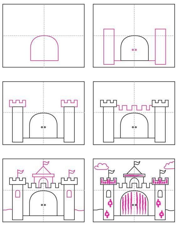 Paint A Watercolor Castle How To Draw Pinterest Diagram