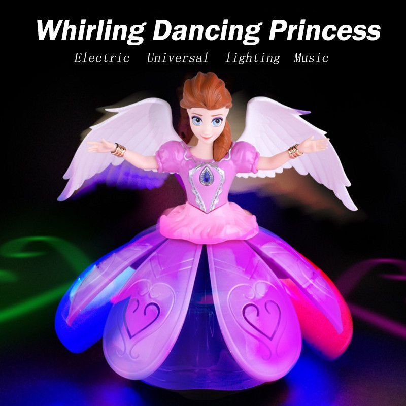 Toys for Girl Dance Princess Doll LED Light 3 4 5 6 7 8 Year Cool Toy Xmas Gift