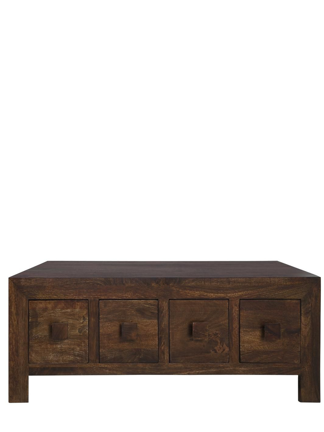 Dakota Ready Embled Coffee Table With 8 Storage Drawers 42 X 118 54 Cm