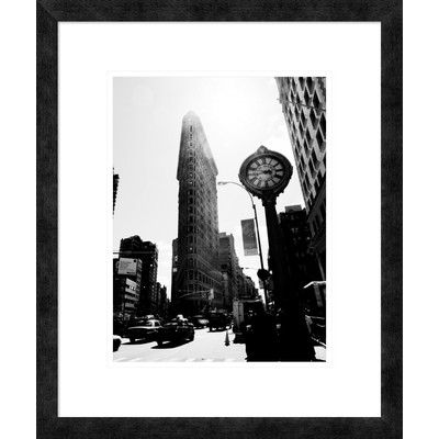 "Global Gallery 'The Flatiron Building, NYC' by Ludo H Framed Photographic Print Size: 24"" H x 20"" W x 1.5"" D"