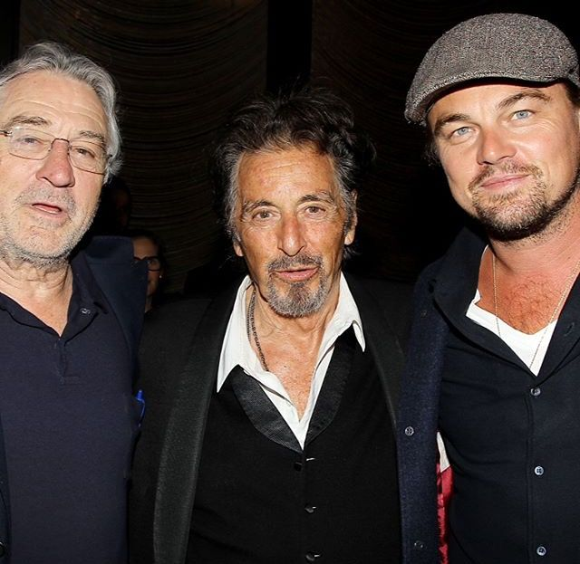 Leonardo Dicaprio Robert Deniro And Al Pacino At The Grill