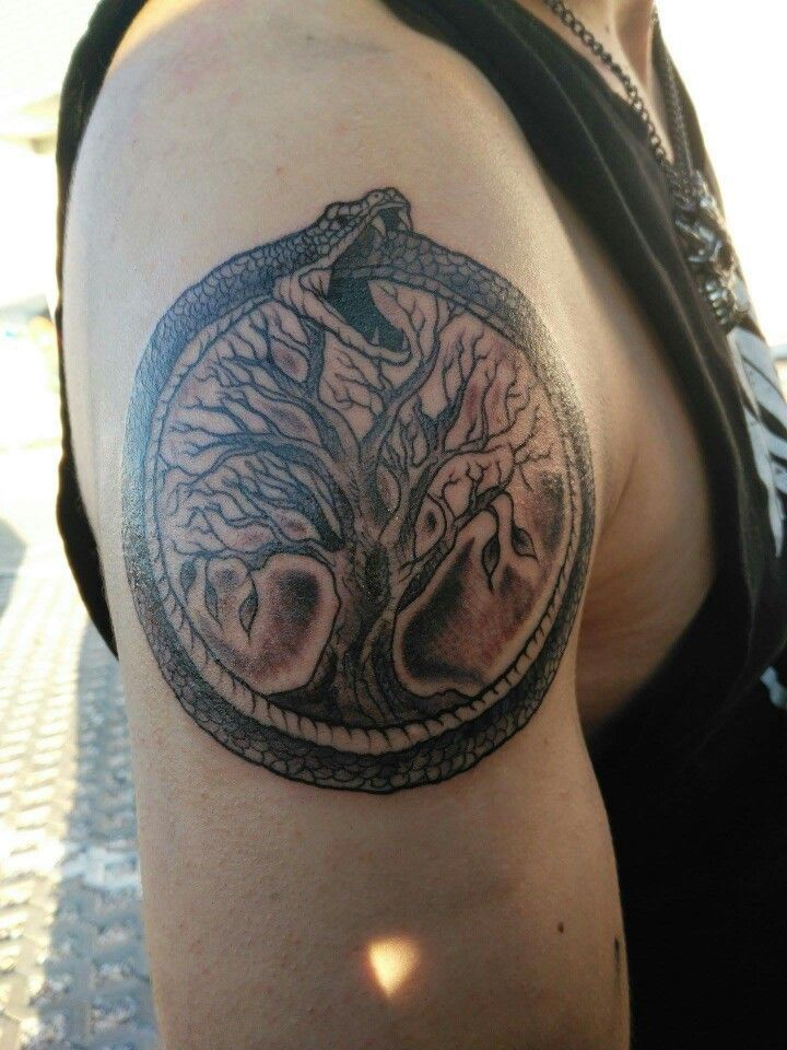 Ouroboros and yggdrasil tattoo My tattoos Pinterest