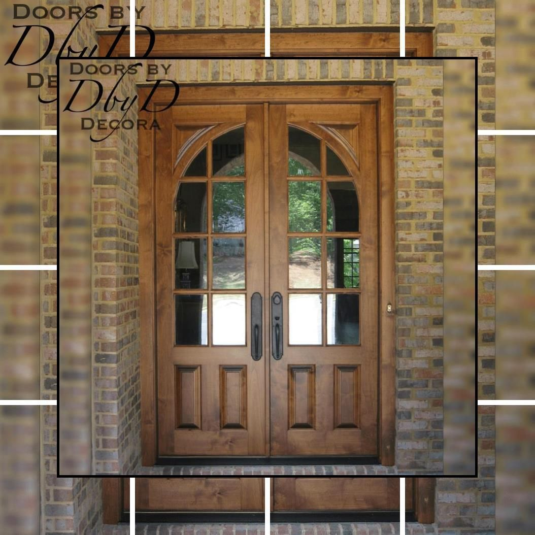 Exterior Wood Doors With Glass Custom Entry Doors Pine