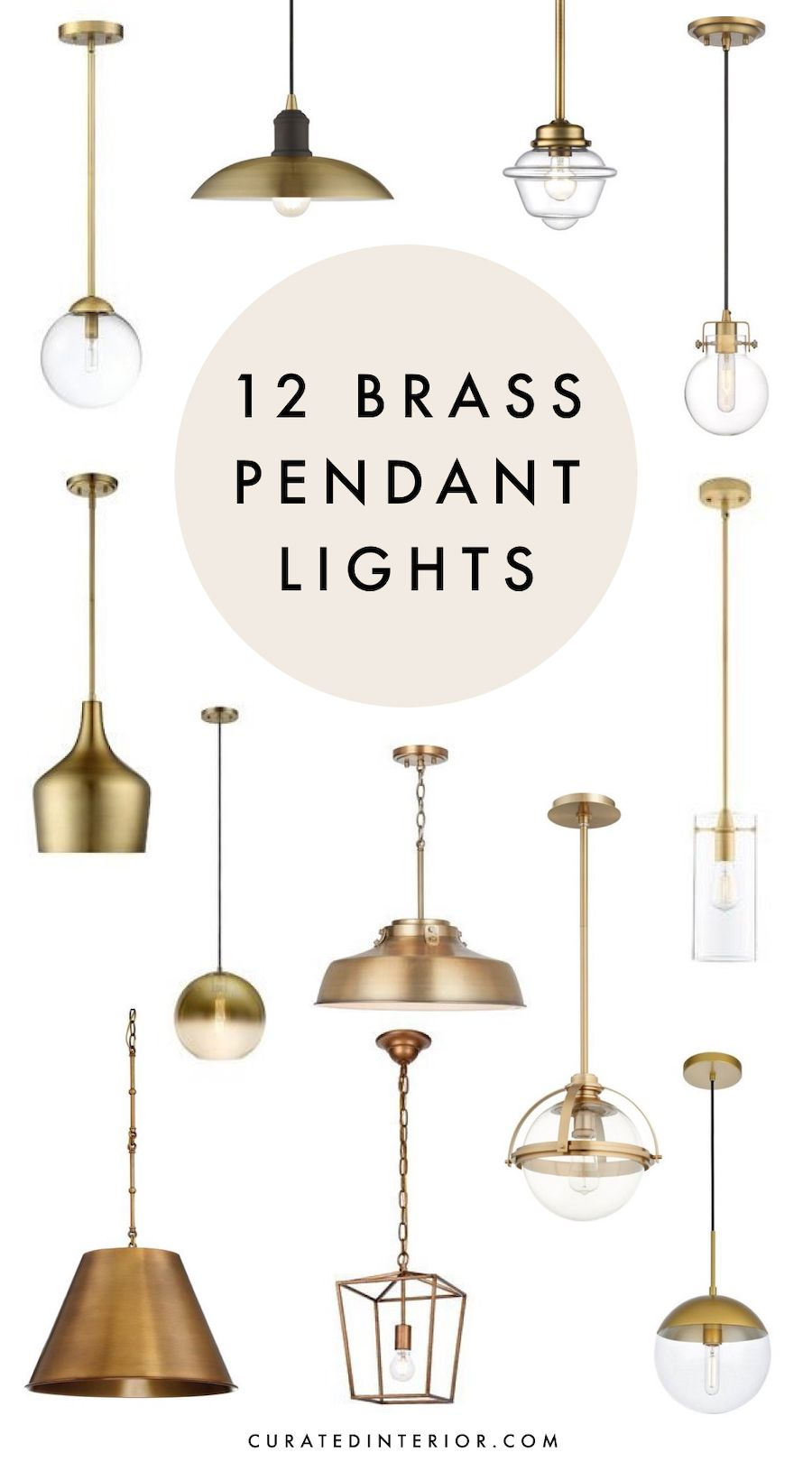 Pin On All Things Home Decor Diy Home Decor Brass pendant light kitchen