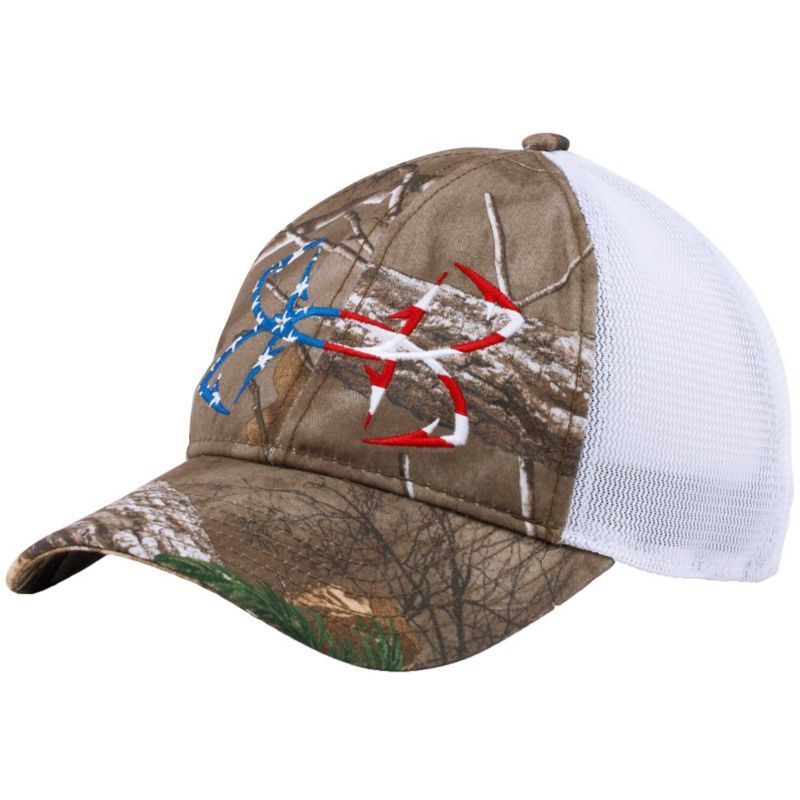 a46fa903af3 Under Armour Fish Hook Camo Trucker Cap