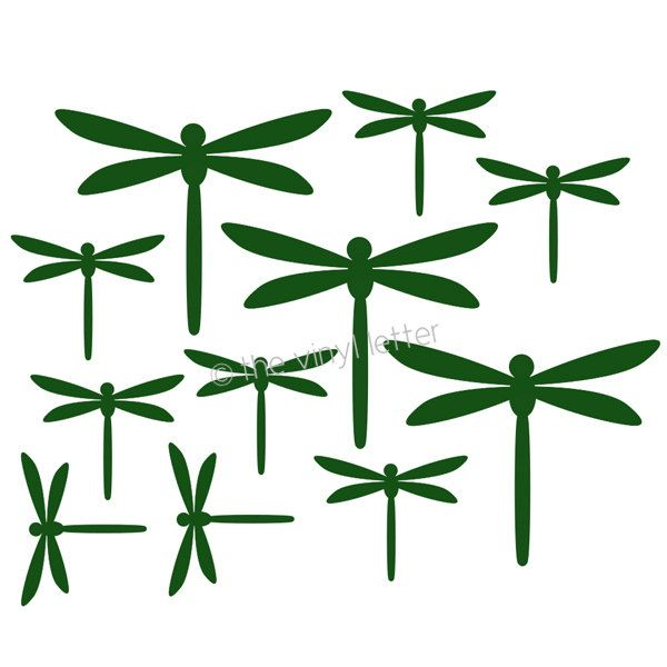 Dragonfly Dragonflies Vinyl Wall Decal   Silhouette stuff ...