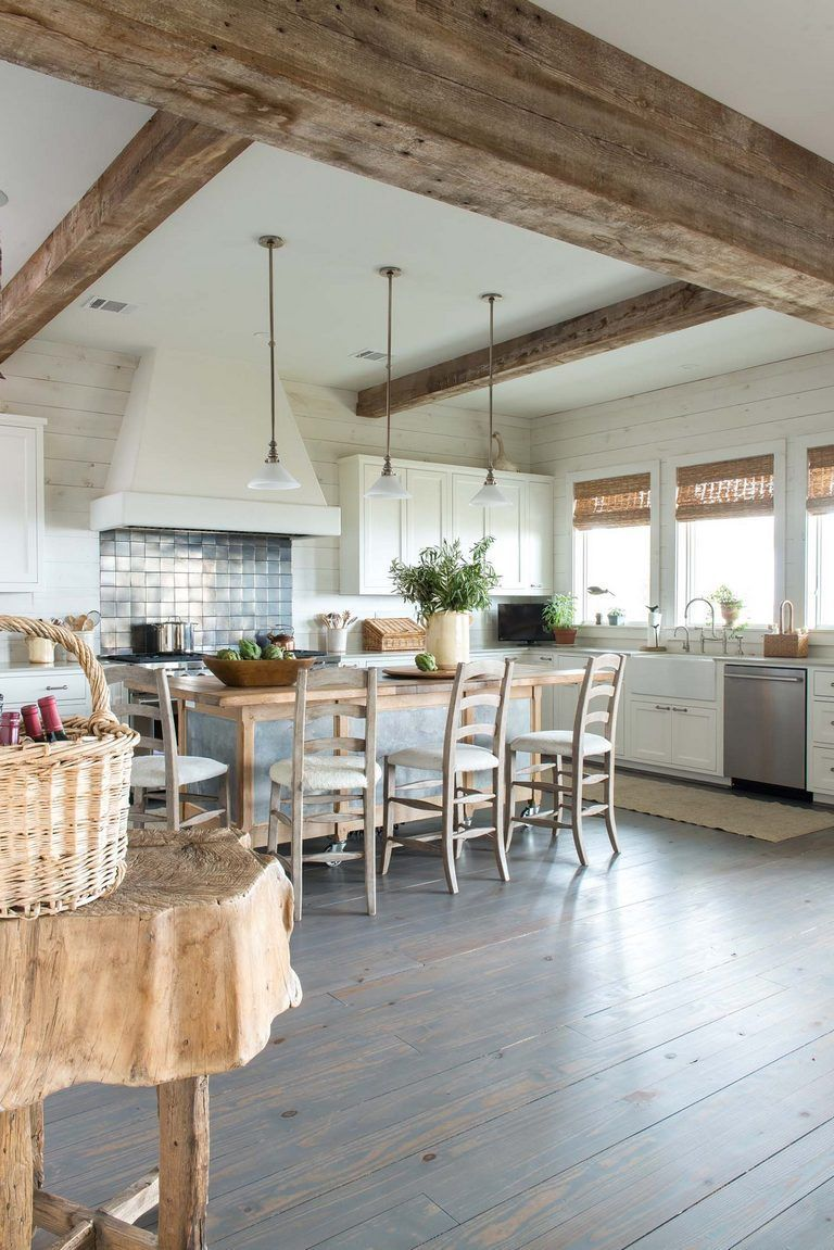154 Beachy Kitchen Rustic With Images Beach House Kitchens