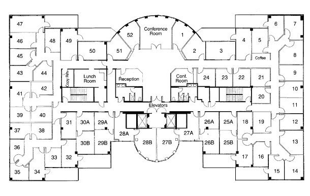 Commercial office floor plans gurus floor for Commercial building plans