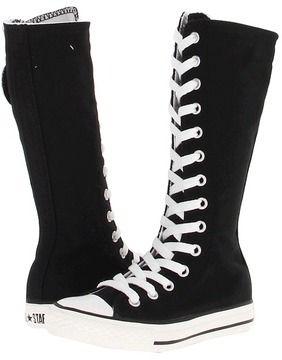 683e2a59a64 Converse Kids - Chuck Taylor All-Star XHi Tall (Little Kid Big Kid) (Black)  - Footwear on shopstyle.com