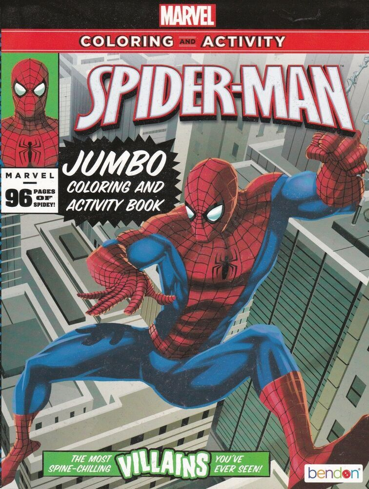 Spider Man Jumbo Coloring And Activity Book 805219030363 Ebay Spiderman Book Activities Books