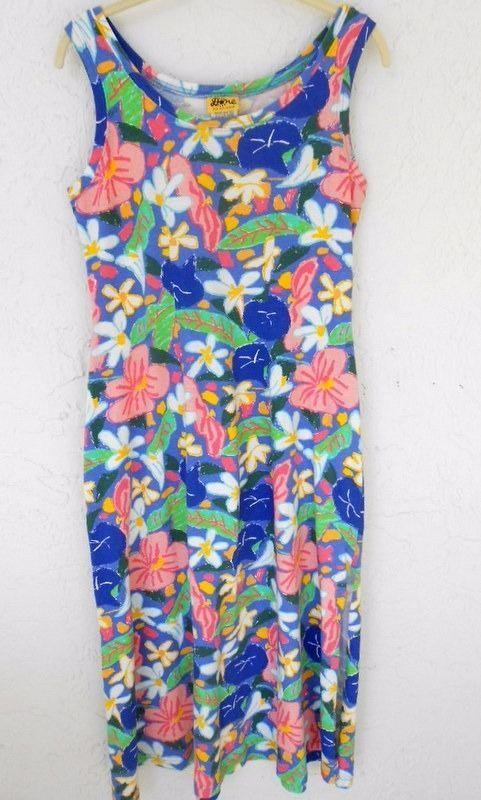 6c5e7de4ed Done Art   Design Maxi Dress Summer Beach Size S Periwinkle Blue Tropical  Shift  DoneArtDesign  Shift  Casual