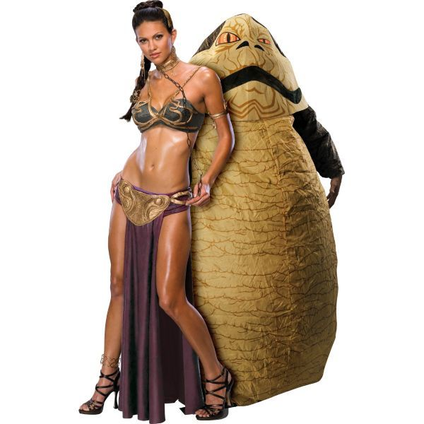 Princess Leia and Jabba The Hutt Star Wars Couples ... Jabba The Hutt And Princess Leia Costume