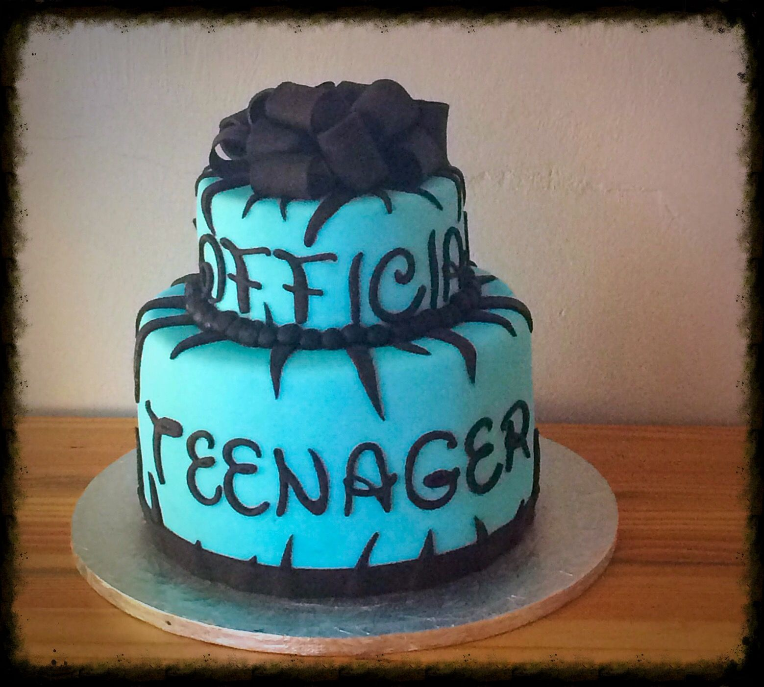 13th Birthday Celebration Cake Official Teenager Chocolate Cake