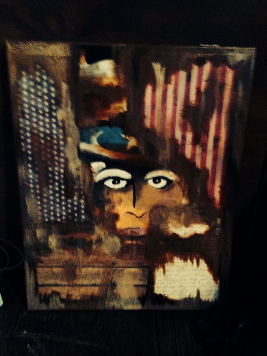 Uncle Sam Rustic Canvas