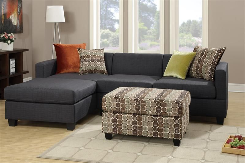 Slate Black 2 Piece Sectional Sofa F7170 : 2 piece chaise sectional - Sectionals, Sofas & Couches