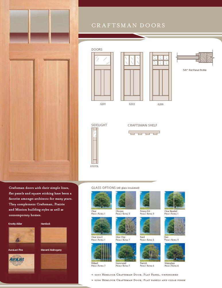 Exterior Craftsman Flat Panel Doors Solid Wood Stain Grade Door Slab Or Prehung Solid Wood Stain Wood Doors Interior Staining Wood