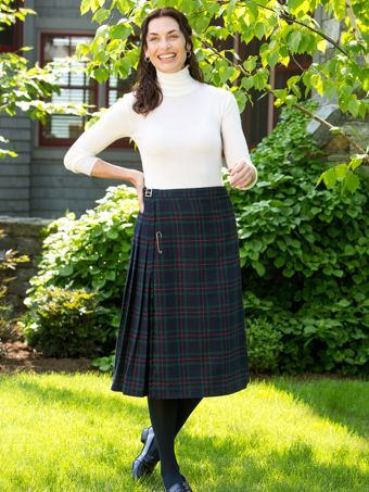 f4213bbe7 Womens Kilt | Classic Plaid Skirts With Traditional Pin Accents | so ...