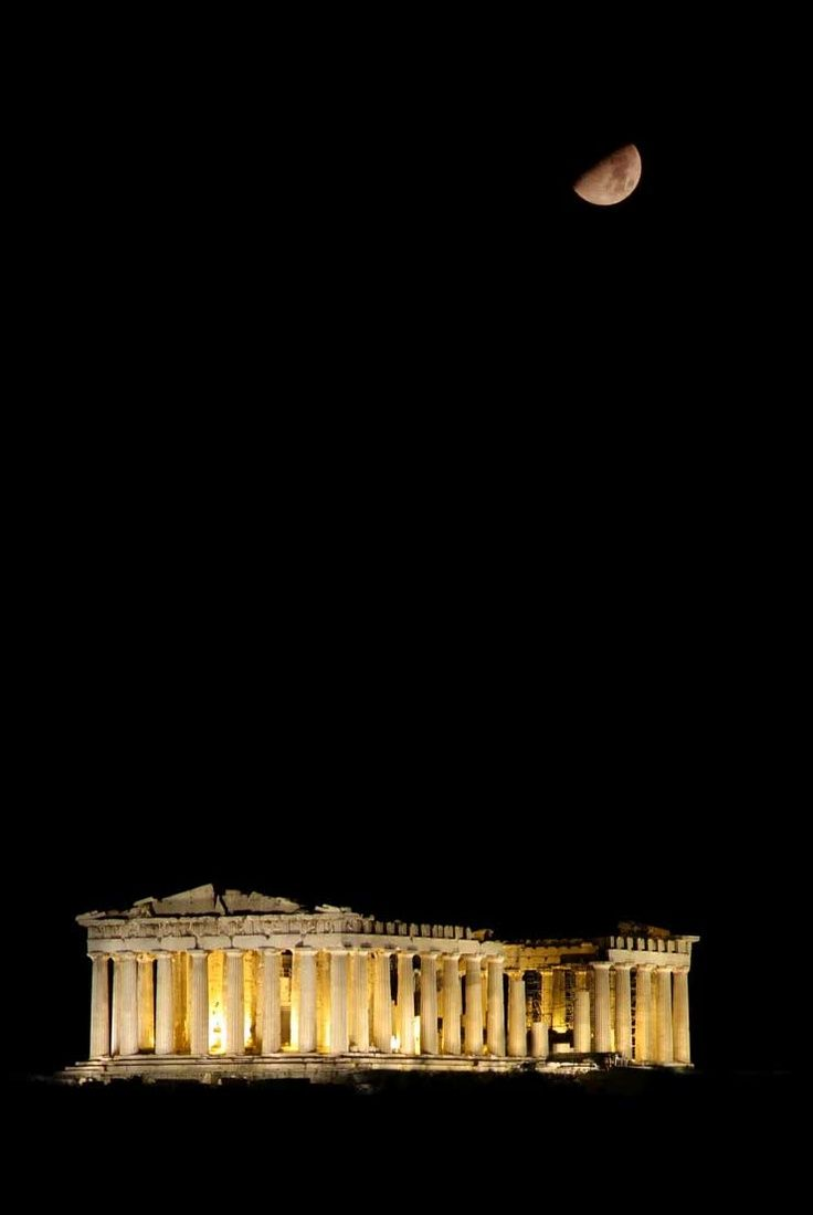 Parthenon - Athens, Greece, Flying in the dark like nothing else