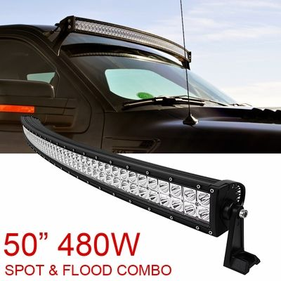 50 Inch 480w Spot Flood Combo Cree Curved Led Light Bar Offroad Driving 4wd Suv Atv Curved Led Light Bar Truck Accessories Ford Light Bar Truck
