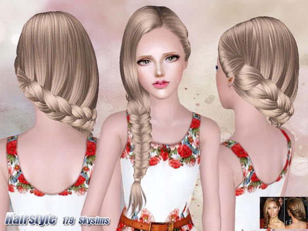 Side Fishtail Hair 179 By Skysims Sims 3 Downloads Cc Caboodle